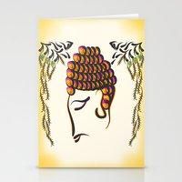 buddha Stationery Cards featuring Buddha by famenxt