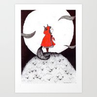 Red Riding Howl Art Print