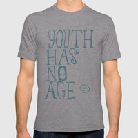 Youth Has No Age (Blue) Mens Fitted Tee Athletic Grey SMALL