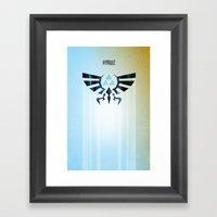 The Legend Of Zelda - Hy… Framed Art Print