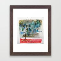 waxing crescent.one Framed Art Print