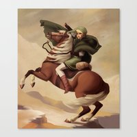The Hero Crossing Death Mountain Canvas Print