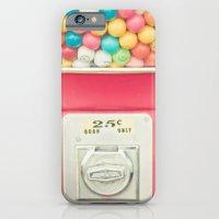 iPhone Cases featuring Rainbow Bubblegum by JoyHey