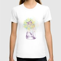 Techno - Chat Womens Fitted Tee White SMALL