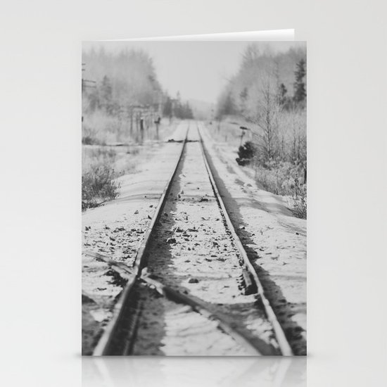Tracks in Snow Stationery Card