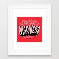 One Spark of Madness Framed Art Print