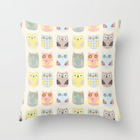 Owls Pattern Throw Pillow