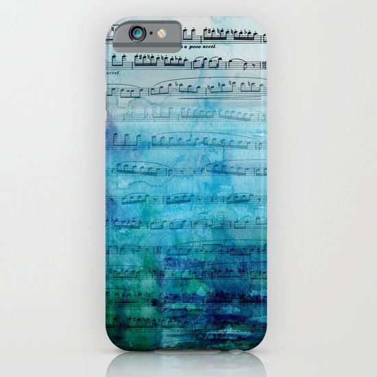 Blue mood music iPhone & iPod Case