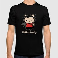 Hello Scotty Mens Fitted Tee Black SMALL