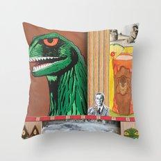 Tiki Monsters Of Mass Destruction Throw Pillow