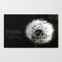 Ethereal Black And White… Canvas Print