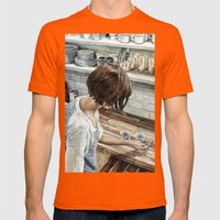 Not This Spoon Mens Fitted Tee Orange SMALL
