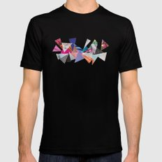 Triangles SMALL Black Mens Fitted Tee