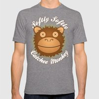 Softly Softly Catchee Monkey Mens Fitted Tee Tri-Grey SMALL