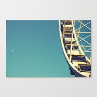 The sky, the moon and the Ferris Wheel Canvas Print