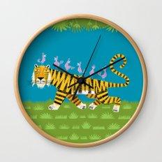 Tiger Transportation Wall Clock