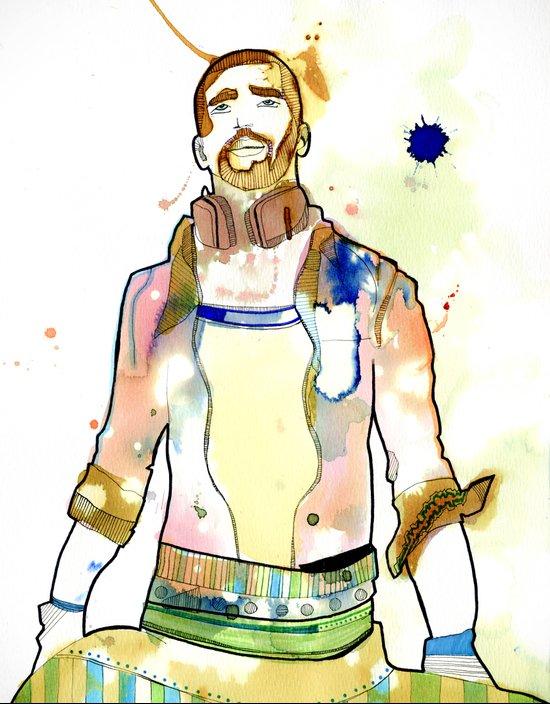 Portraits, Mario Art Print