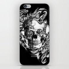 Butterfly smoke skull on black base.  iPhone & iPod Skin