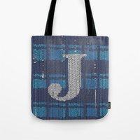 Winter clothes. Letter J. Tote Bag