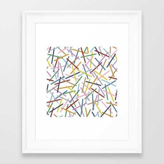 Kerplunk Repeat Framed Art Print