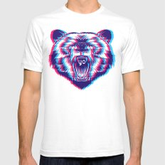 yo bear Mens Fitted Tee White SMALL