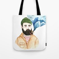 The Sailor And The Sea Tote Bag