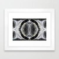 Waterfall Mandala Framed Art Print