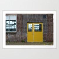 Yellow Doors Art Print