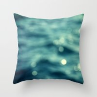 Bokeh Water Throw Pillow