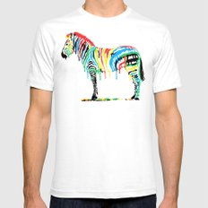 Fresh Paint White SMALL Mens Fitted Tee