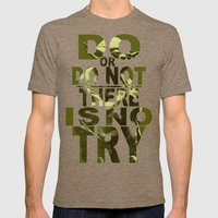 Star Wars Yoda Do or Do Not Mens Fitted Tee Tri-Coffee SMALL