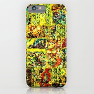 Abstract In Yellow  iPhone 6 Slim Case