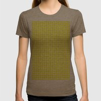 BIG YELLOW DOT Womens Fitted Tee Tri-Coffee SMALL