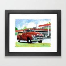 1954 Chevrolet Pickup Framed Art Print