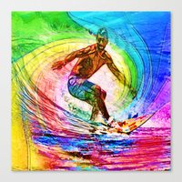 Surf Style Canvas Print