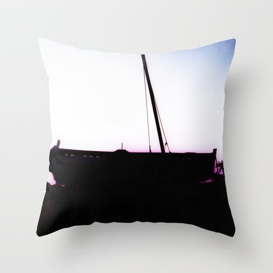 The Boat Throw Pillow by Ibbanez Society6