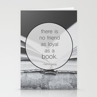 Books: No Friend As Loyal Stationery Cards