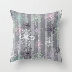 Flower Play Throw Pillow