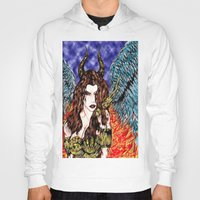 Angel Or Demon In Color Hoody