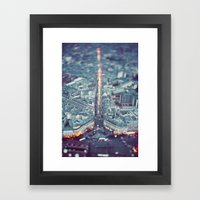 Paris, City of Lights. Framed Art Print