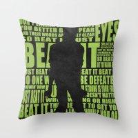 Beat It Throw Pillow