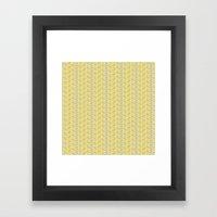 inspired herringbone Framed Art Print