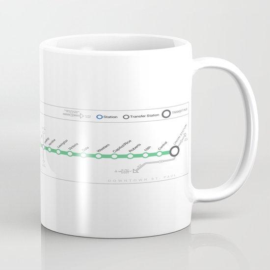 Twin Cities METRO Green Line Map Mug