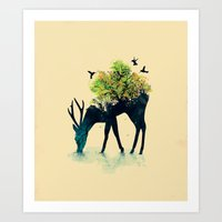 forest Art Prints featuring Watering (A Life Into Itself) by Picomodi