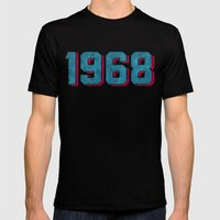 Vintage 1968 Mens Fitted Tee Black SMALL