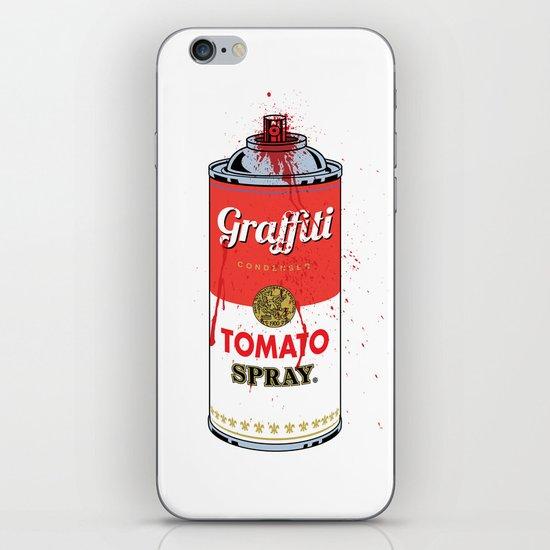 Graffiti Tomato Spray Can iPhone & iPod Skin