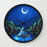Wall Clock featuring A Wondrous Place by Alice X. Zhang