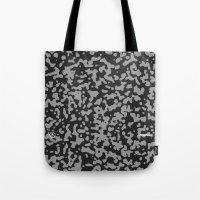 Comp Camouflage Pattern / Black Tote Bag