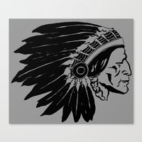 Chief Two Moons Canvas Print