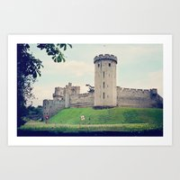 Beyond The Castle Walls Art Print